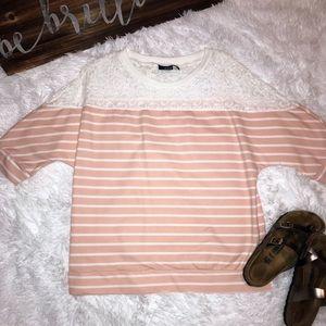 a.n.a 3/4 sleeve shirt Sz Large